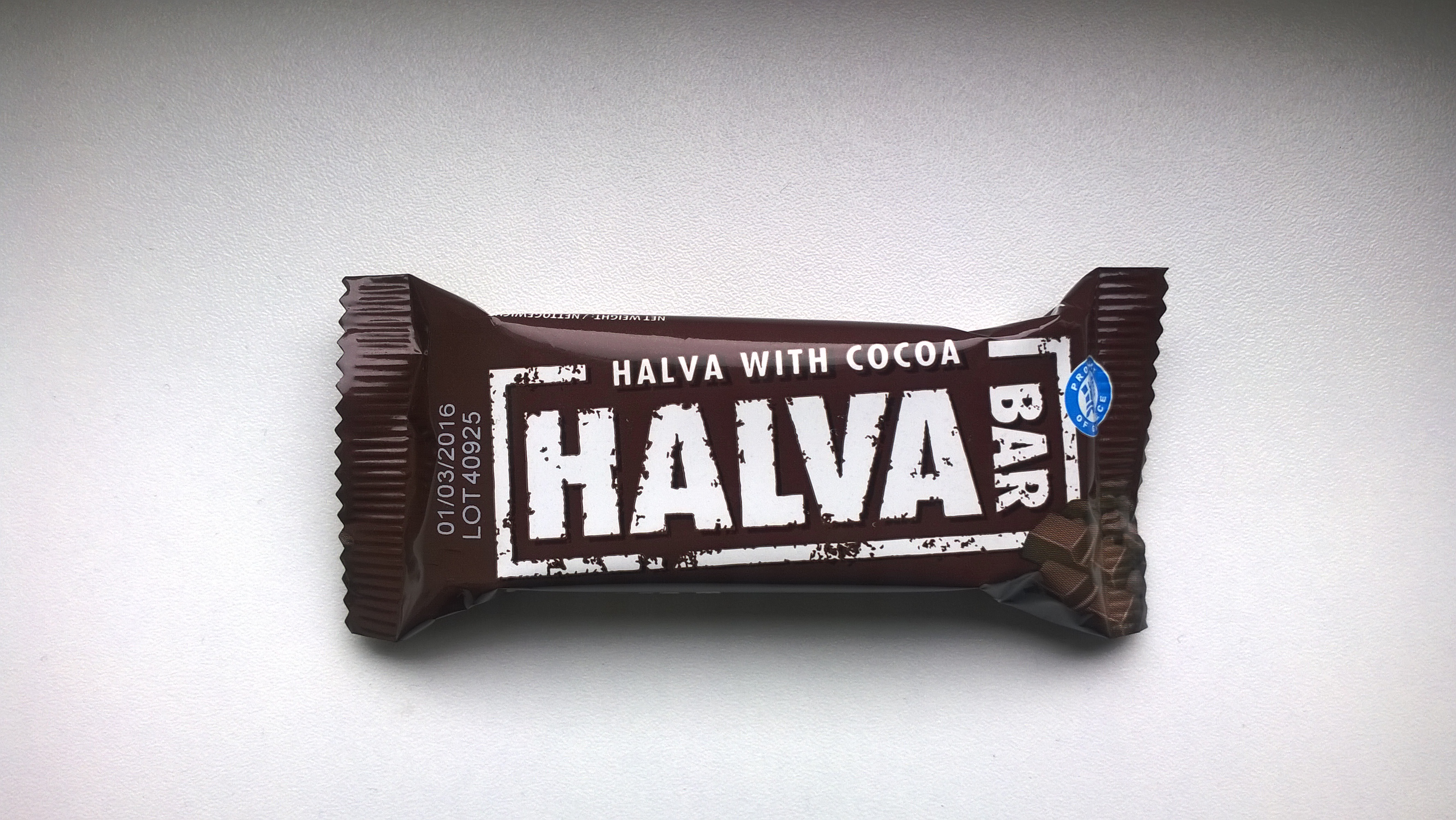 Packaging of Halva with Cocoa by Haitoglou Bros
