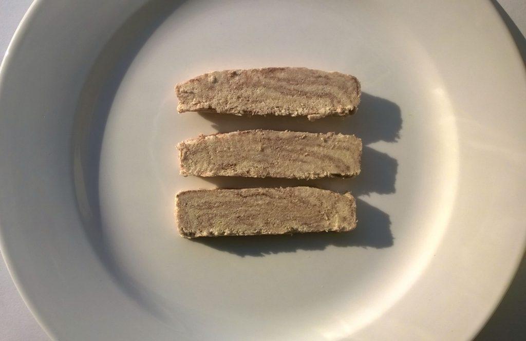 Three slices of Halva Veria with Chocolate by DSAM