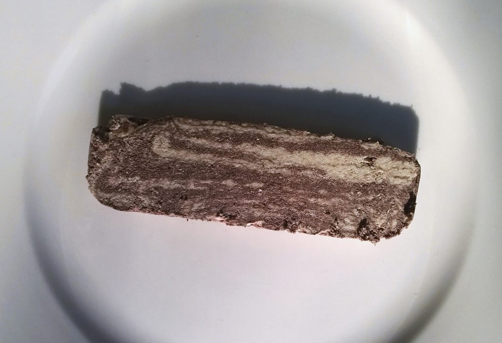 Slice of Handmade Halva with Cocoa by Ofelia