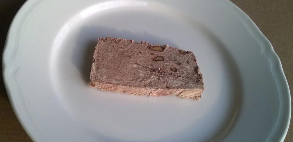 Slice of Tahini Confection with Biscuit & Cocoa by Halvas Drapetsonas