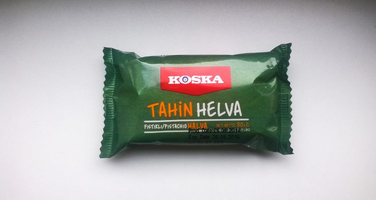 Packaging of Koska Tahin helva pistachio