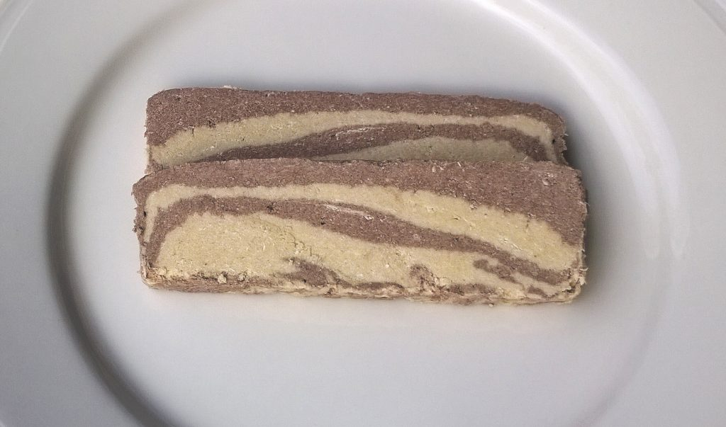 Two slices of Lalin Halva with Cocoa