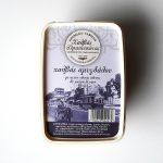 Packaging of Halvas Almond with Whole Grained Tahini & Brown Sugar by Halvas Drapetsonas box