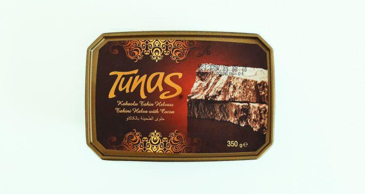 Packaging of Tunas Tahini halva with cocoa
