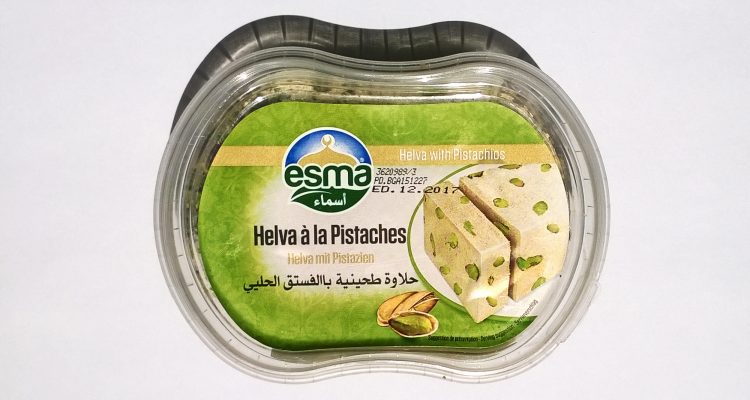 Packaging of Helva with pistachios by Esma