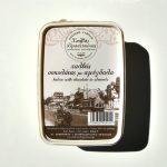 Packaging of Halva with Chocolate & Almonds by Halvas Drapetsonas box