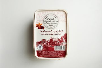Packaging of Halvas Drapetsonas Cranberry and Almonds