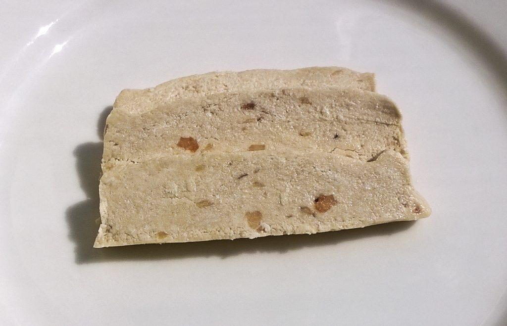 Three slices of Handmade Halva with Peanuts by Kandylas