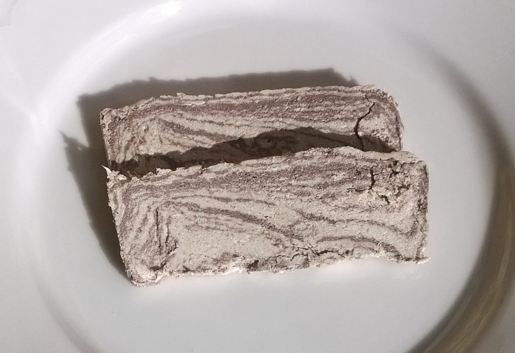 Two slices of Halva with cocoa by Esma
