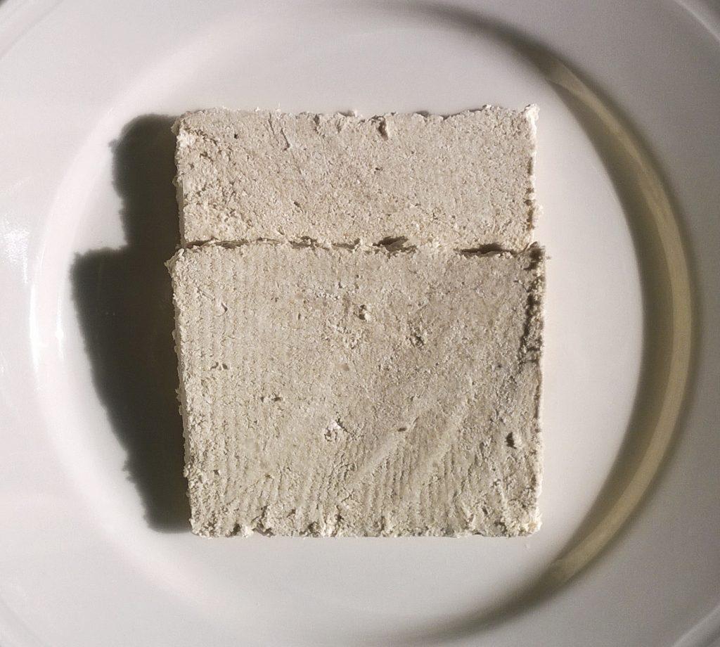 Two slices of Handmade Halva Vanilla by Argoudelis