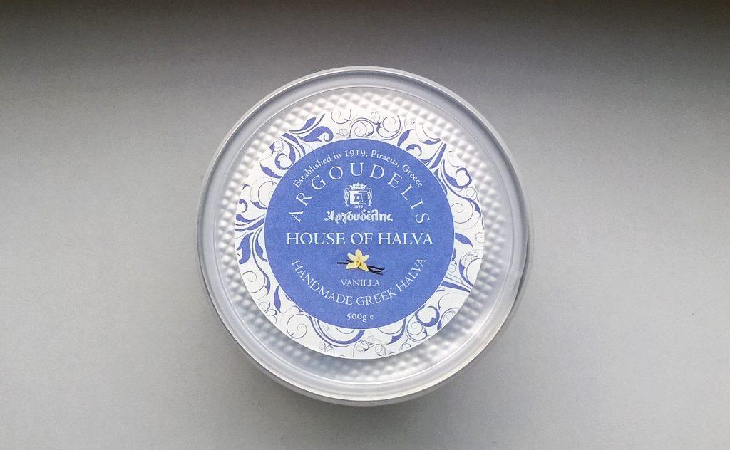 Can of Handmade Halva Vanilla by Argoudelis