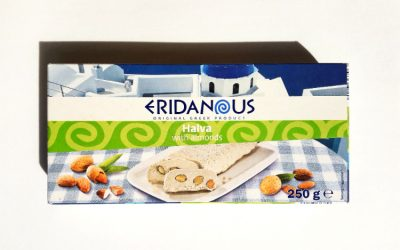 Packaging of Eridanous Halva with Almonds