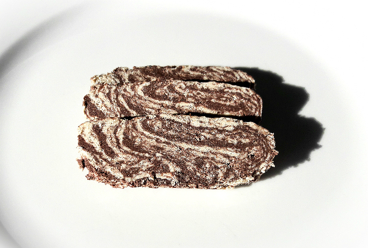 Three slices of Eridanous Halva with Cocoa by Papayianni Bros