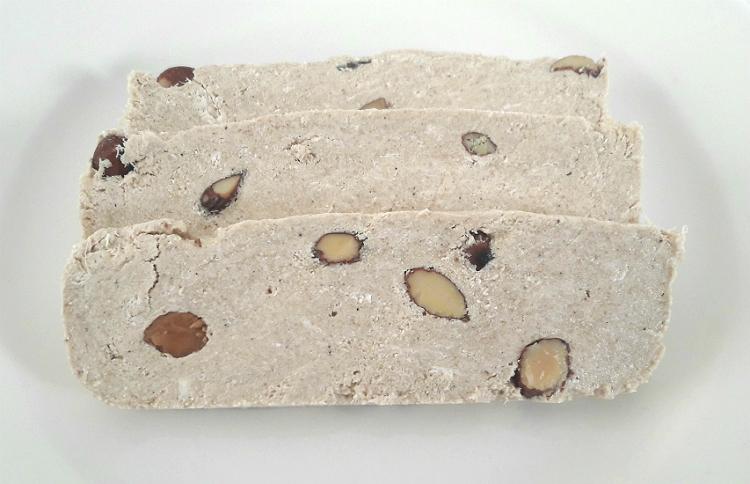 Three slices of Halva Almonds by Matis