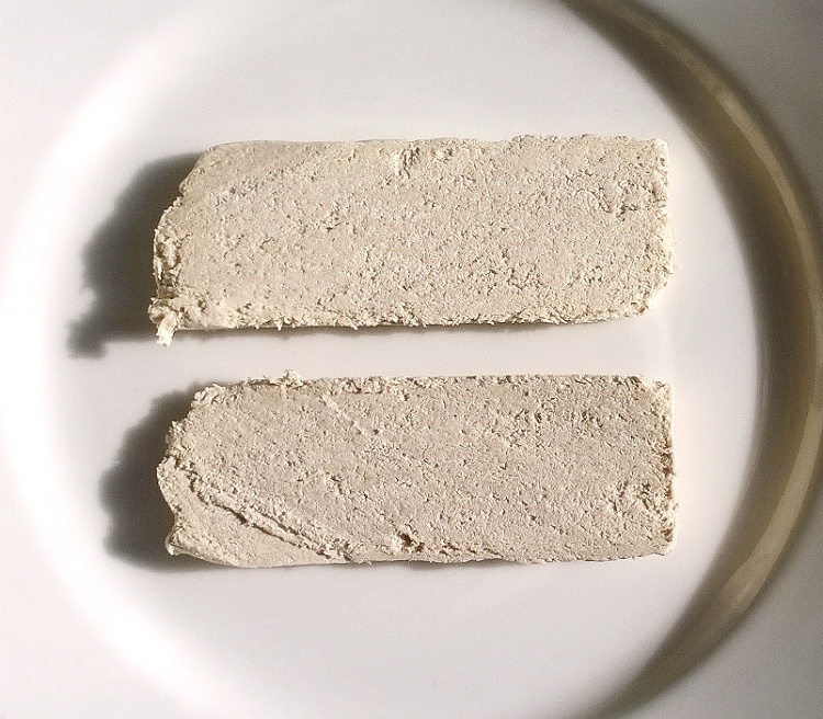 Two slices of Vanilla Flavoured Halva by Baktat