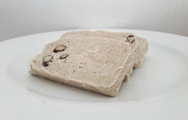 Three slices of Almond Halva by Attiki