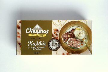 Picture of Olympos Royal Halva with Cocoa, Almonds & Raisins by Papayianni Bros packaging