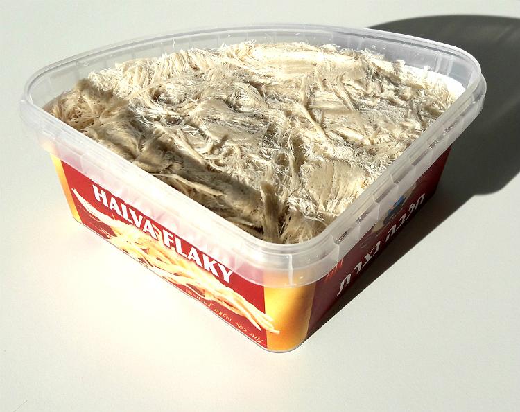 Opened box of Halva Flaky by Nazareth Factory