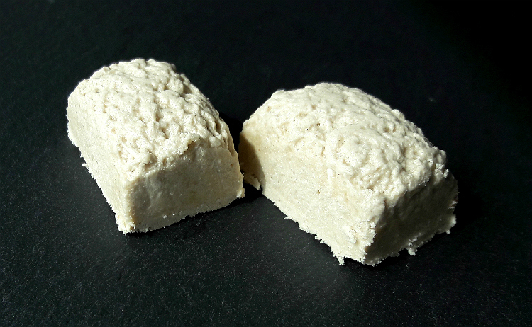 Two pieces of Plain Tahini Halva by Helvacizade