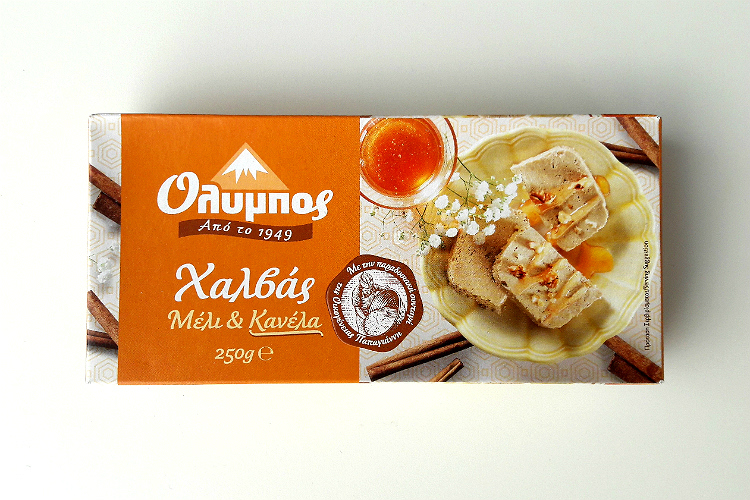 Picture of Olympos Halva Honey & Cinnamon by Papayianni Bros packaging