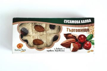 Packaging of Targovishte Sesame Halva with Almonds and Cranberries