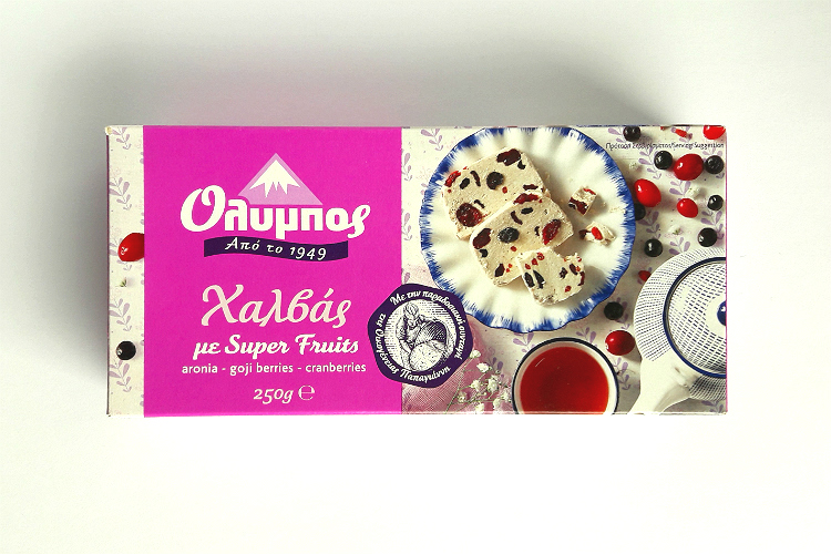 Picture of Olympos Halva with Super Fruits by Papayianni Bros (packaging)