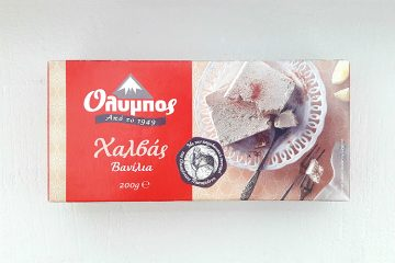 Packaging of Olympos Halva Vanilla