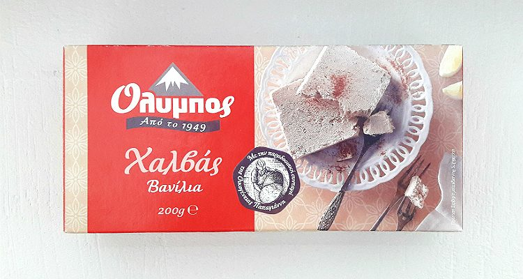 Packaging of Olympos Halva Vanilla
