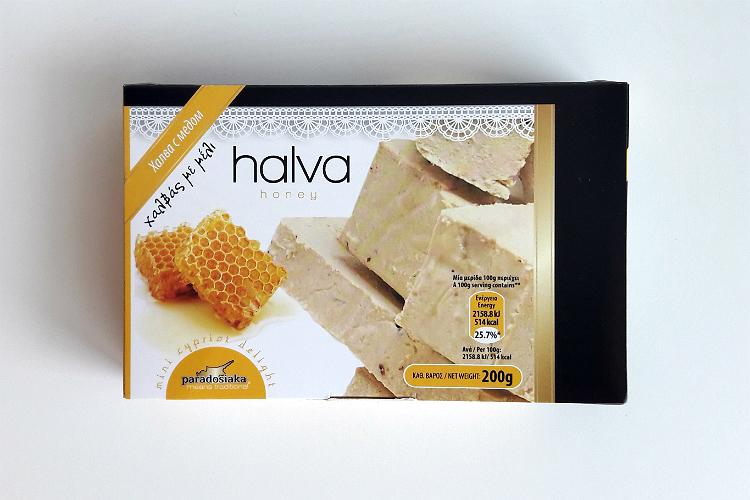 Packaging of Paradosiaka Halva with Honey
