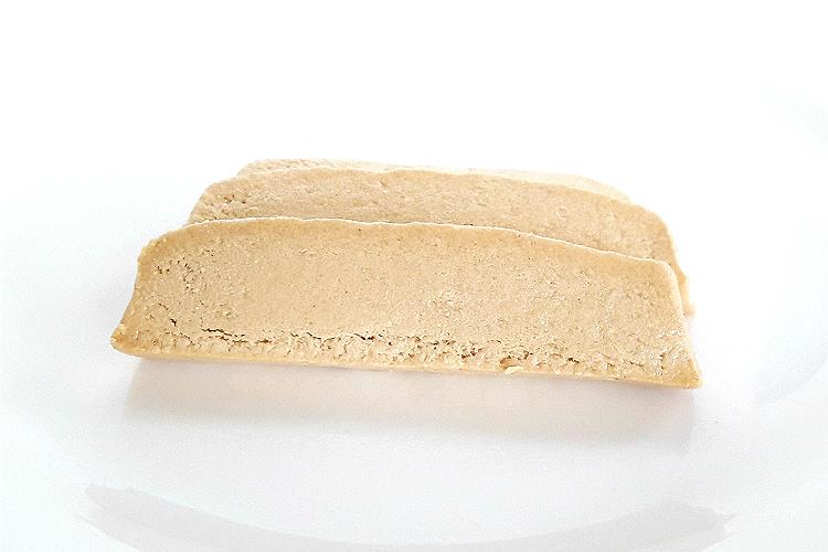 Two slices of Paradosiaka Halva with Honey