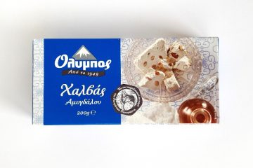 Packaging of Olympos Halva Almond
