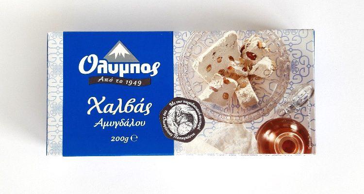 Packaging of Olympos Halva Almond
