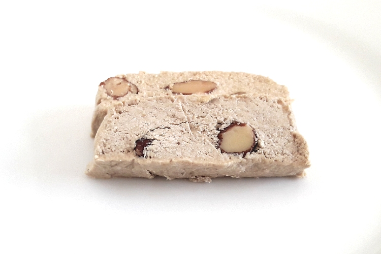 Two slices of Olympos Halva Almond
